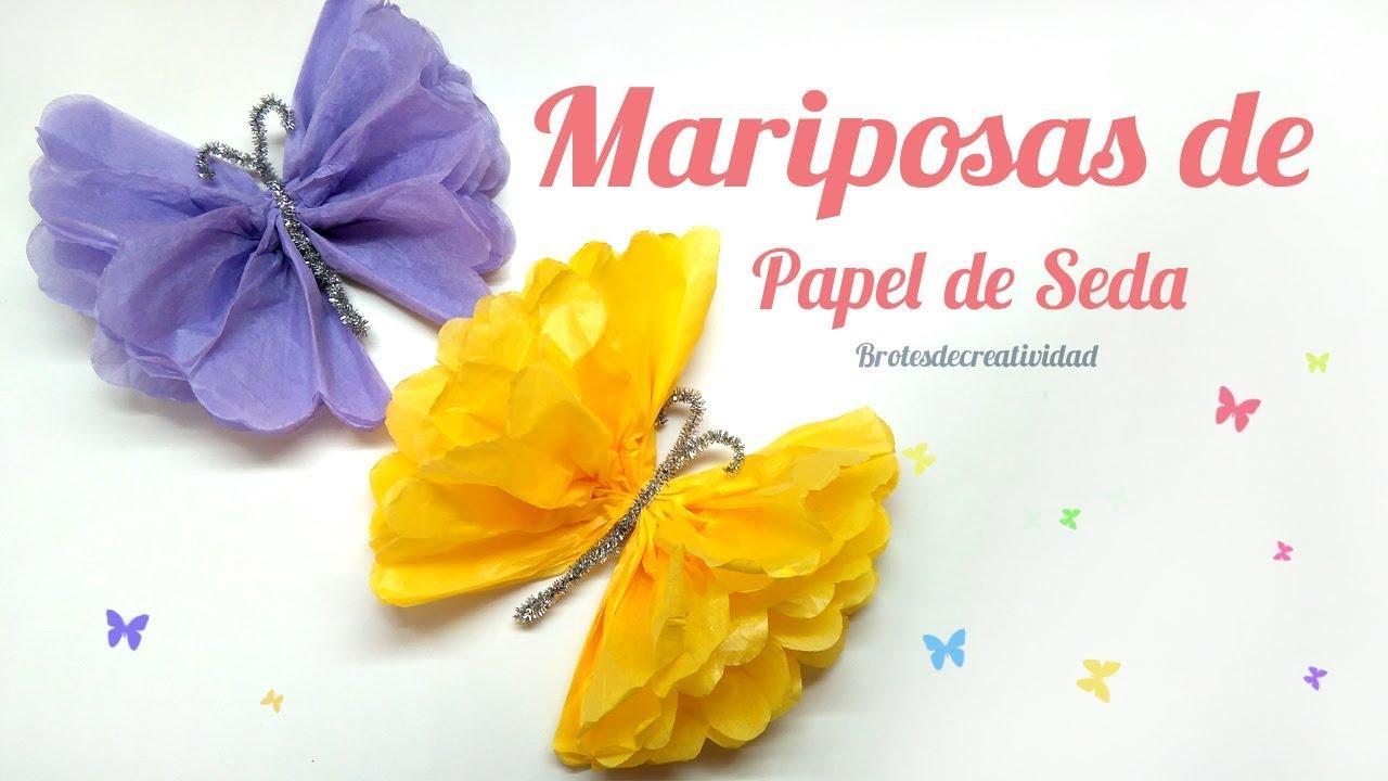 Diy Mariposa De Papel De Seda China Super Facil Brotes De