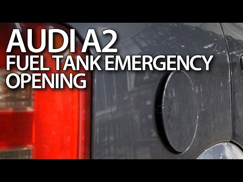 How to emergency open fuel tank cover in Audi A2 (service)