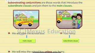 learn english online subordinating conjunctions