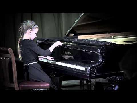Edvard Grieg. Poetic Tone Picture op 3 no.1 in e-minor - Vasilisa Evstigneeva (8yo)