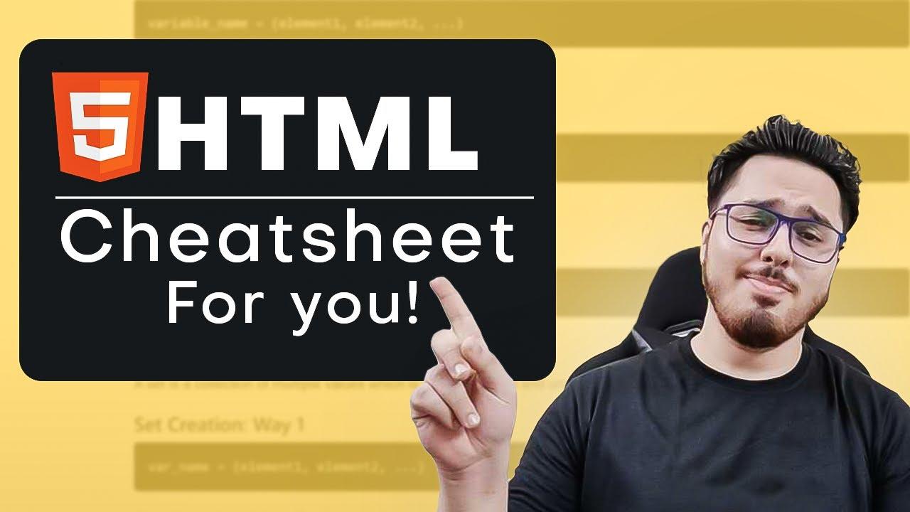 HTML CheatSheet 🧾 for Beginners 🔥