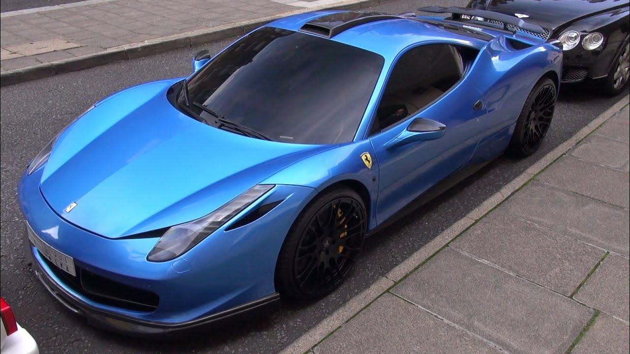 chrome blue hamann ferrari 458 italia in london - Ferrari 458 Italia Blue