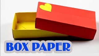 Làm hộp giấy bằng giấy a4 đơn giản - How to Make a Rectangular Origami Box - Easy Origami