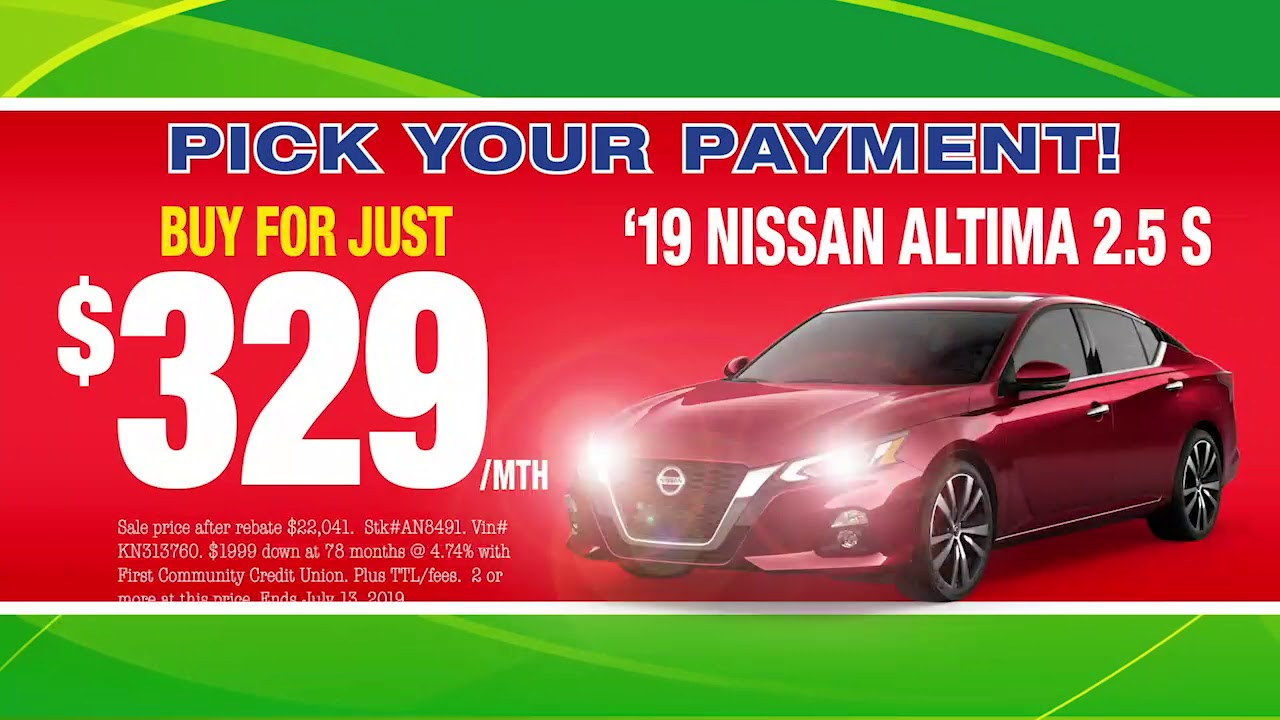 Cheap Car Payments >> July 4th Sale Cheap Car Payments At Autocenters Nissan Near St Louis Mo