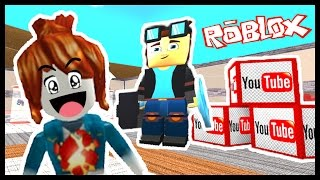 I MET DanTDM! - Roblox - Youtube Factory Tycoon