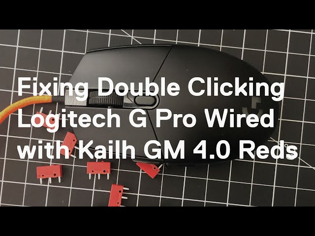 Fixing a double clicking Logitech G Pro Wired with Kailh GM 4.0 Red Switches