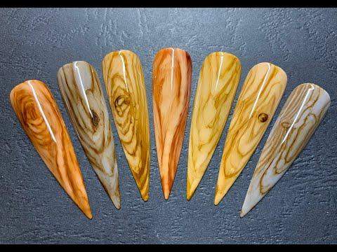 Nail Trends Of 2020 | Wood Designs | Vẽ Móng Vân Gỗ