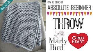 How to Crochet Beginner Crochet Throw Right Handed