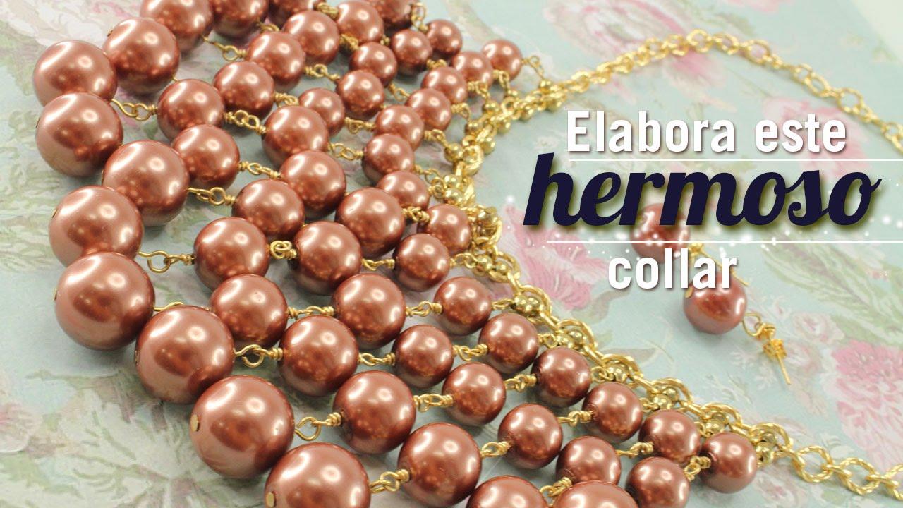 e59dae67e5df Cómo hacer un collar cascada perlas Kit 23161 - YouTube