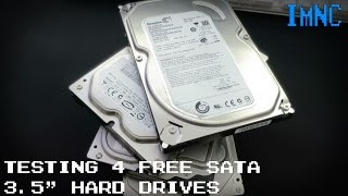 Testing 4 Free SATA Hard Drives | IMNC