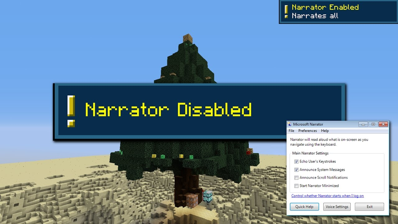 Problems with the Narrator - Minecraft Snapshot 17w16b