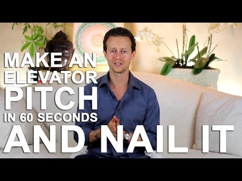 Elevator Pitch - Do your elevator pitch in 60 seconds and nail it!