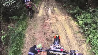 Pit bike yx140 Enduro tour Go Pro Hero3 HD