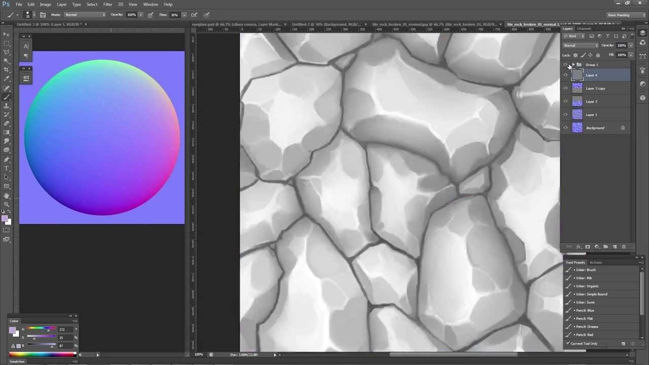 Creating a Normal Map for Hand-Painted Textures in Mudbox, Photoshop, and  Unity3D