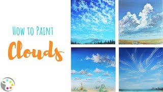 How to Paint Clouds   Acrylic Painting Tutorial