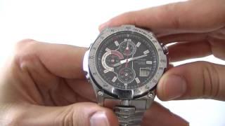 Men's Casio Wave Ceptor Chronograph Watch WVQ-570DE-1AVER - Watch Shop UK