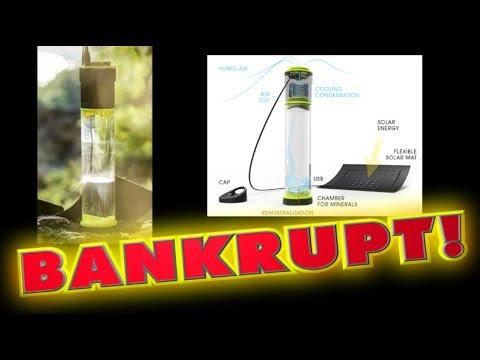 'Self-filling water bottle' goes BANKRUPT!!
