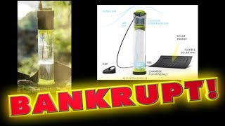 'Self-filling water bottle' goes BANKRUPT!!