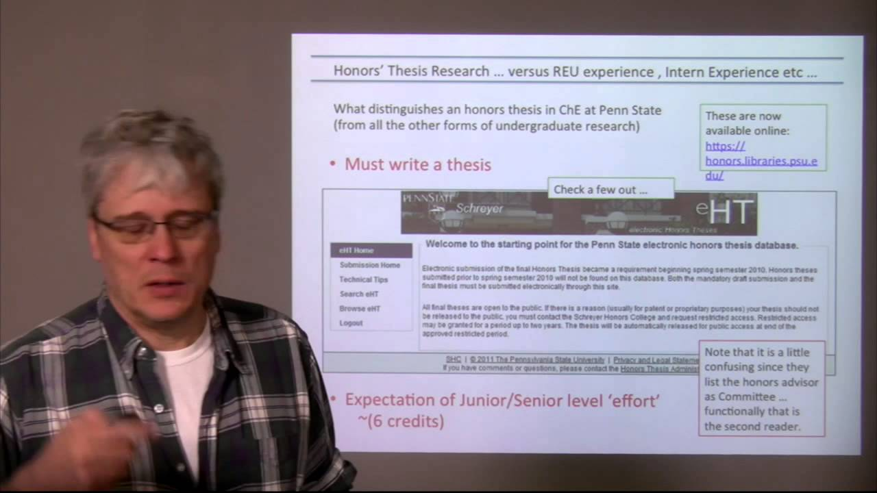 Honors Thesis Guide