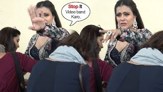 Kajol's STUPID Tantrums When CAUGHT Without Make Up During Helicopter Eela Promotions