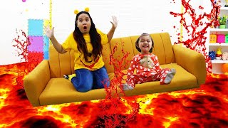 Baby Maddie Pretend Play The Floor is Lava Fun Kids Video and Toys