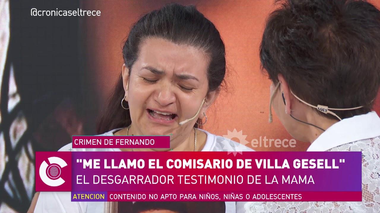 Desgarrador: la mamá de Fernando narró el momento en el que se enteró de la muerte de su hijo