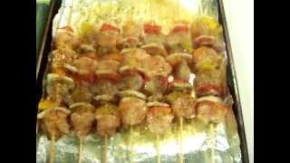 Making Chicken & Shrimp Kabobs With Chef Sharane