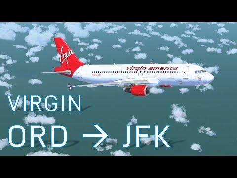 FSX Chicago to New York | Virgin America | Full Flight