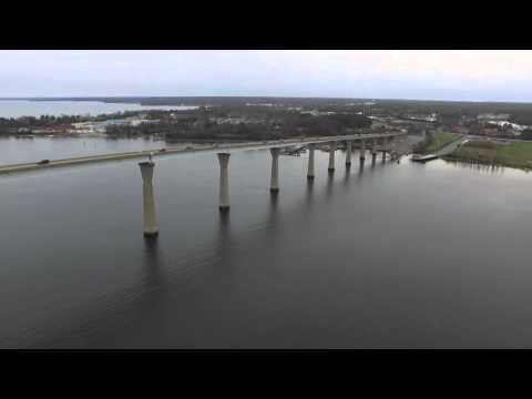 Drone over Solomons Island, MD