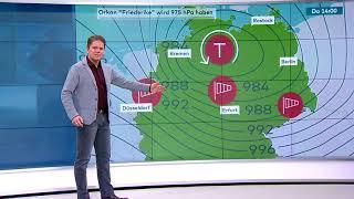 Sturmwarnung: Friederike ist im Anflug - Orkantief soll übers Land fegen