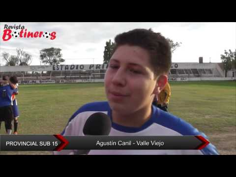 Provincial sub 15 Agustin canil valle viejo