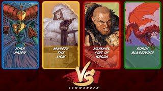 Commander VS S9E3: Xira vs Mageta vs Kamahl vs Rorix