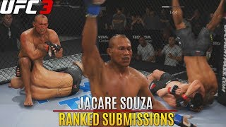 Jacare Souza Is A Submission King! New Patch Struggles! EA Sports UFC 3 Ranked Gameplay