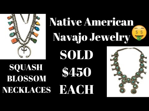 Sold Squash Blossom Necklaces Native American Jewelry