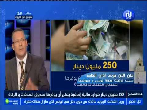 250 مليون دينار موارد مائية إضافية يمكن  أن يوفرها صندوق الصدقات والزكاة : Le Chiffre