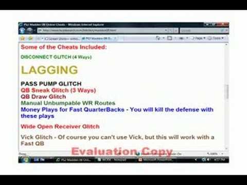 Madden 08 Cheats Glitches And Tricks New Updates