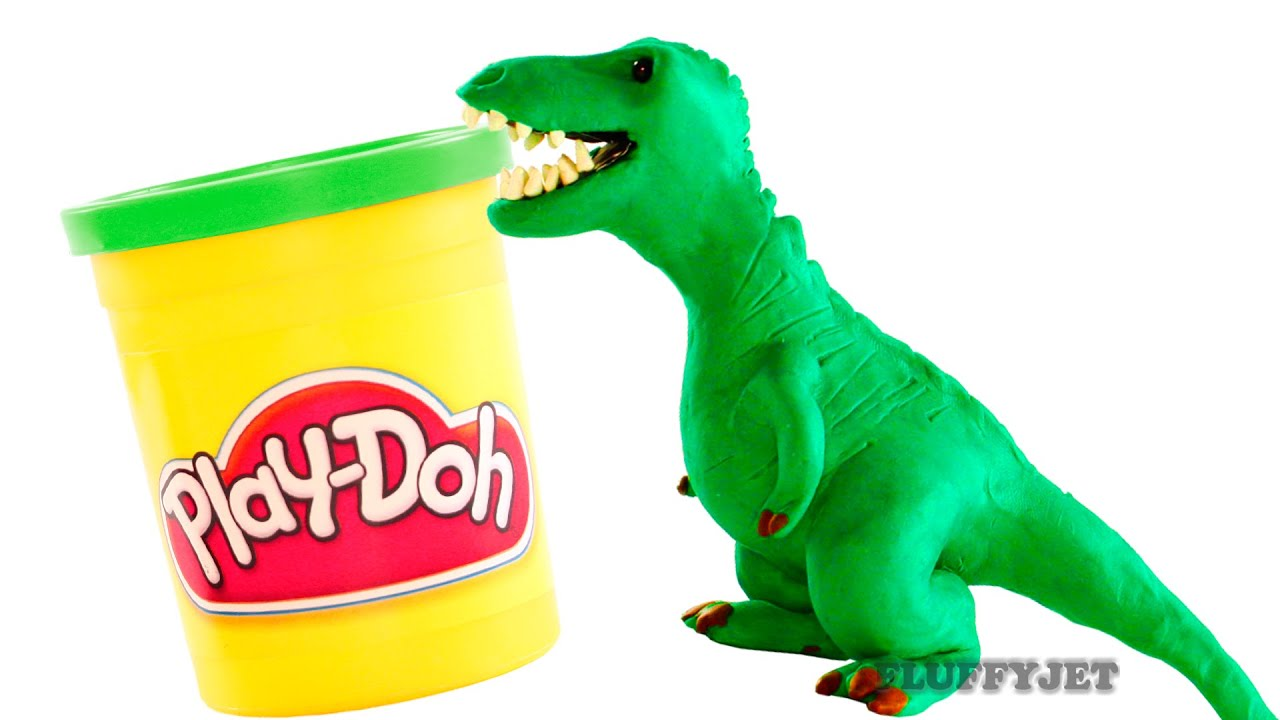 Play Toys Com : Dinosaurs play doh stop motion t rex dinosaur animation