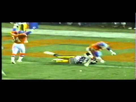 1991 PITTSBURGH STEELERS dropped pass to lose game vs DENVER
