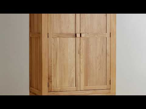 Solid Wood Wardrobes with Drawers Furniture
