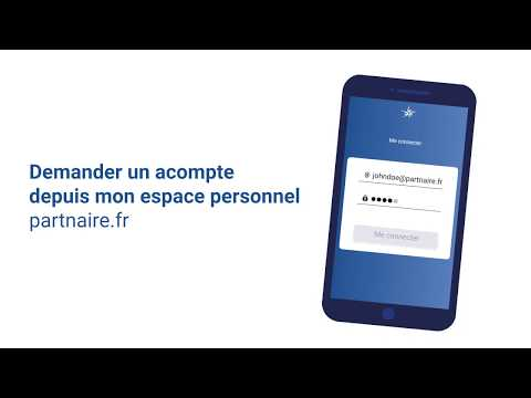 Votre demande d'acompte sur le site partnaire.fr