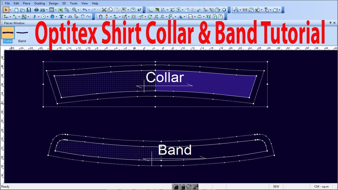 Collar Band/How to make Collar & Band/Optitex Software