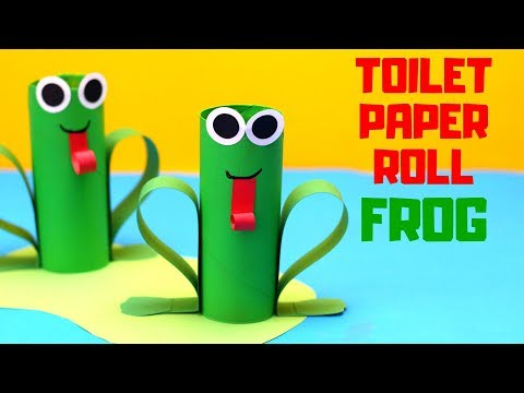 How to Make a Toilet Paper Roll Frog