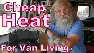 cheap heat for van living