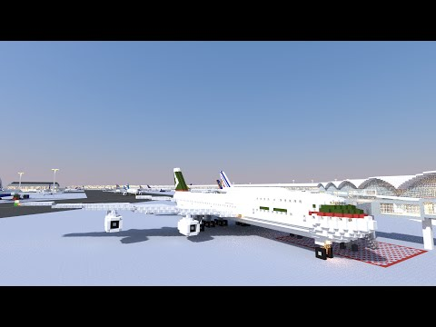 Minecraft 747-400 (Cathay Pacific)