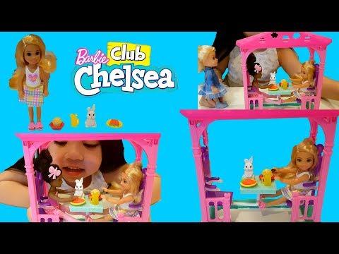 Barbie Club Chelsea Gazebo and Pet Picnic Set + Mini Hatchimal Blind Bag