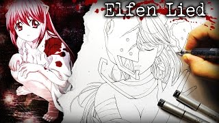 Disturbing but Awesome Anime: Elfen Lied - DRAWING