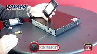 Set up the Kguard surveillance system in under 90 seconds!