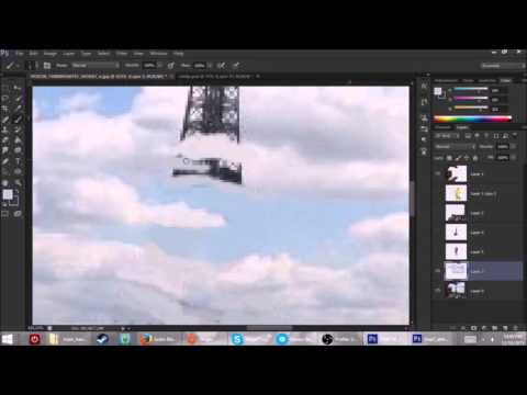 Photo Editing: Painting Clouds over the Eiffel Tower