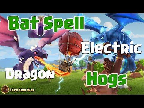 Queen Walk Hogs, Bat Spell + Dragon | 3 Stars War TH12 | ClanVNN #QNP
