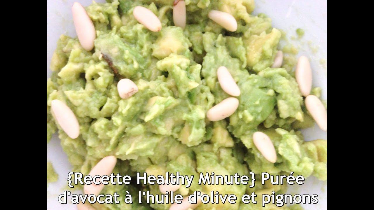 Recette Crue Vegan Healthy Minute Puree D Avocat A L Huile D